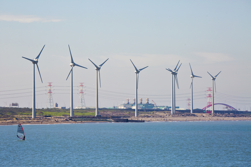 Wind Turbines along the coast