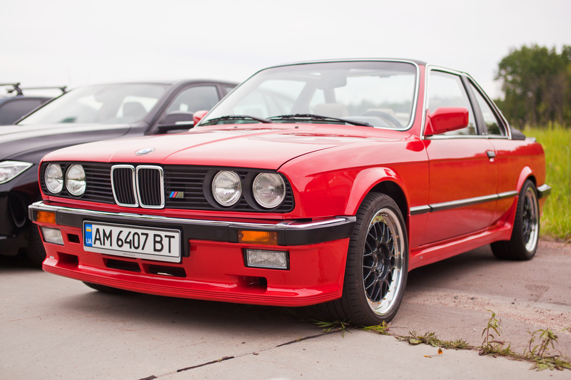 BMW e30 at the exhibition.