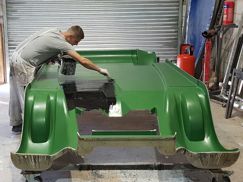 Phantom kit car body under construction