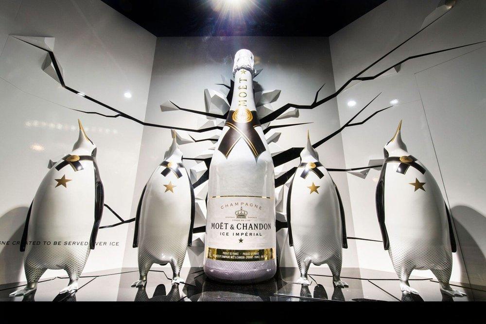 Moet & Chandon GRP Penguins Display